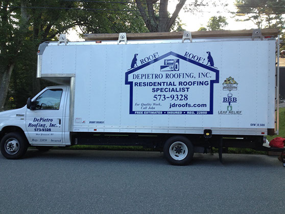 One of the DePietro Roofing fleet